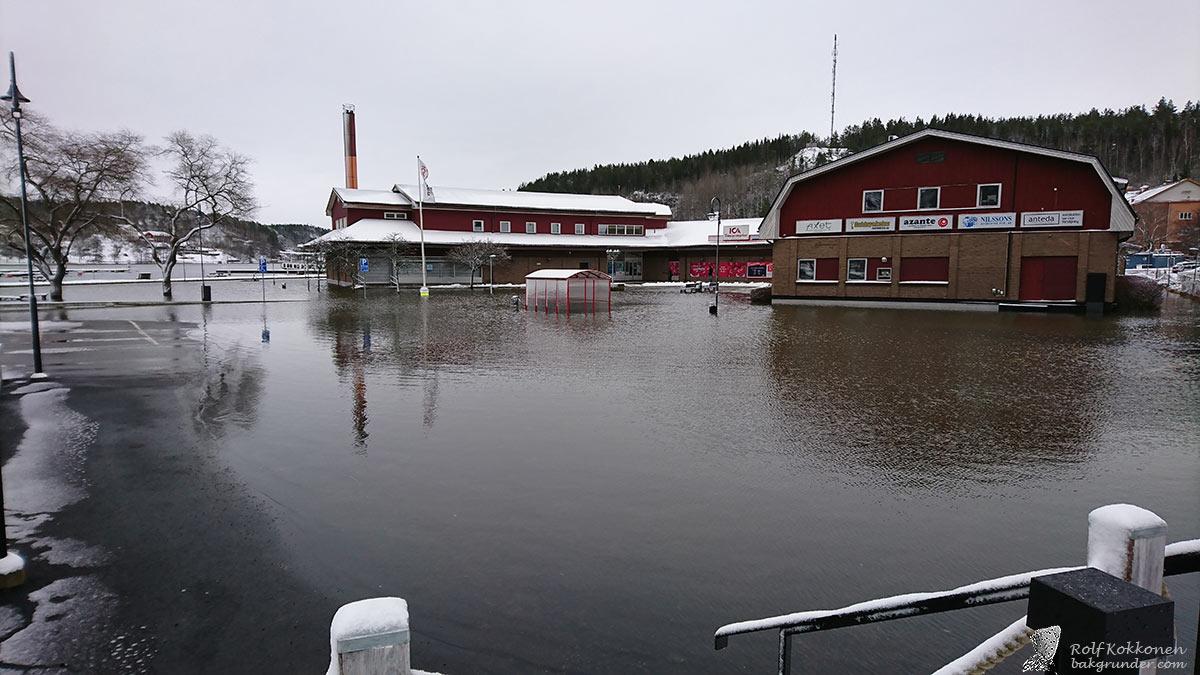 Översvämning i Valdemarsvik igen