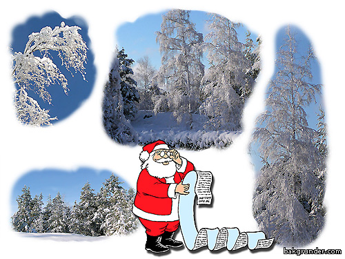 Jultomten läser önskelistan