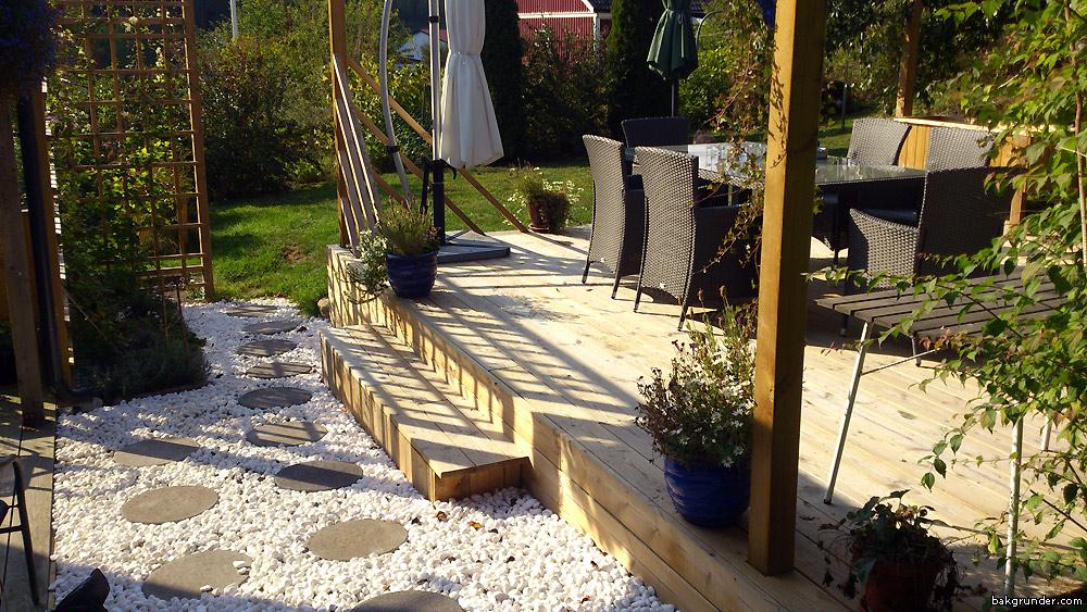 bygga trädäck med staket