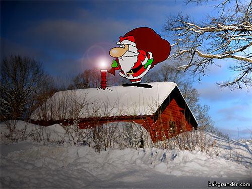 Jultomten har problem med skorsten!