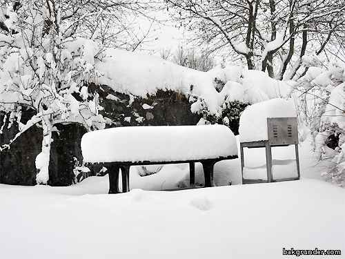 Väldigt mycket snö