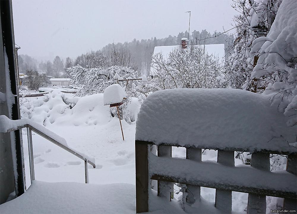 Snökaos i Valdemarsvik