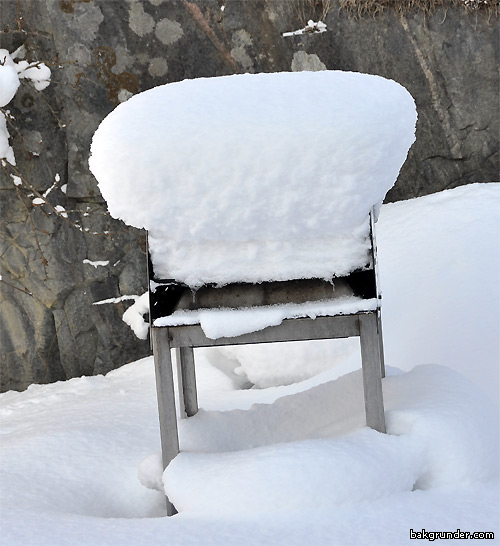 Min grill i vinterskrud