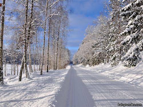 Vinterväg skrivbordsbakgrund