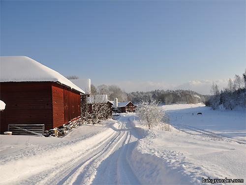 Vinterlandskap vinterväg